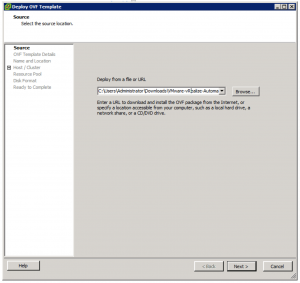 Deploy OVF Template Source Location