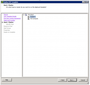 Deploy OVF Template Host