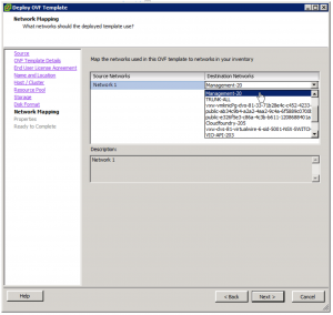 Deploy OVF Template Network