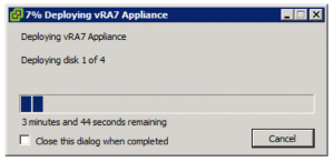 Deploy OVF Template Deploying