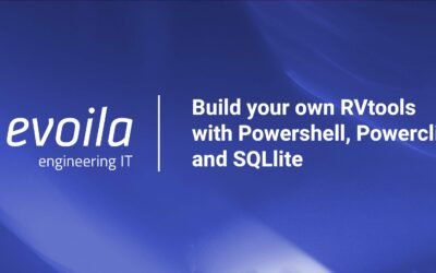 Build your own RVtools with Powershell, Powercli and SQLlite